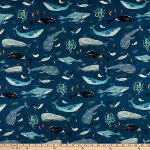 Ткань морские обитатели