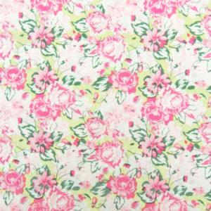 Ткань розовые цветы - студия SOVA