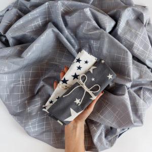 Ткань полоска серебро - студия SOVA