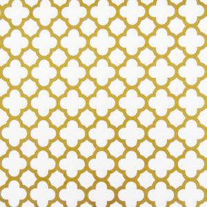 Ткань золотой четырехлистник - студия SOVA