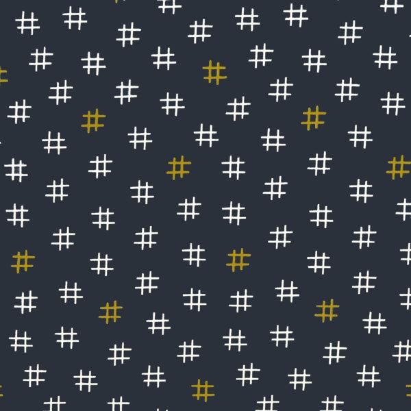 Ткань хэштег - студия SOVA