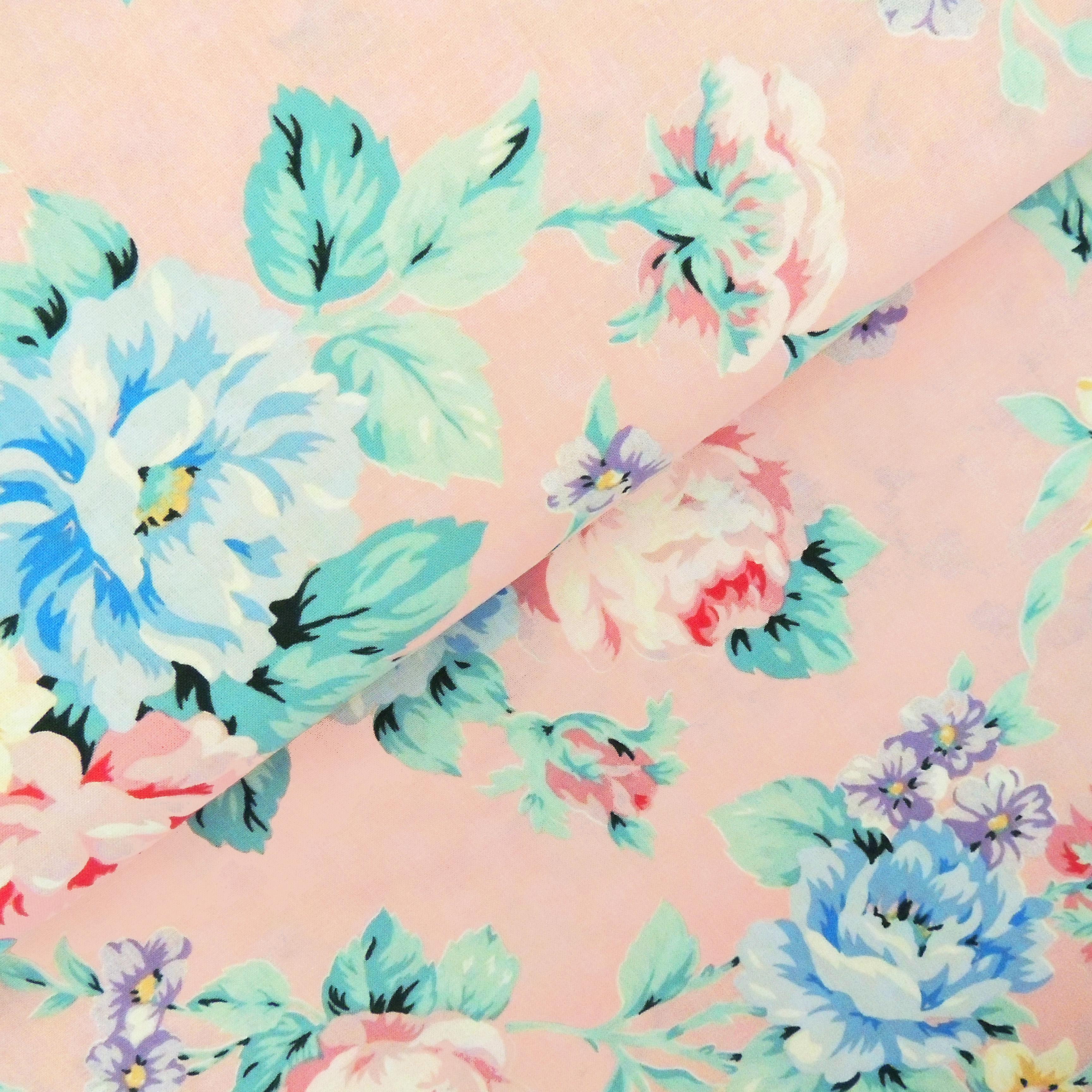 Ткань садовые пионы - студия SOVA