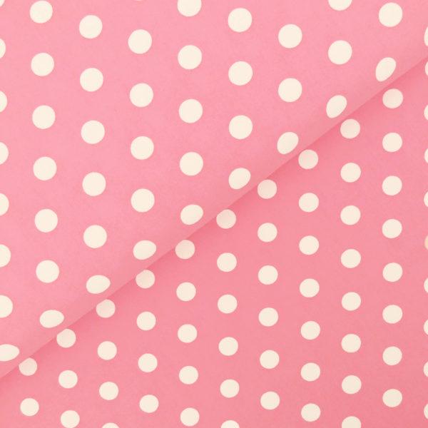 Ткань розовый горох - студия SOVA