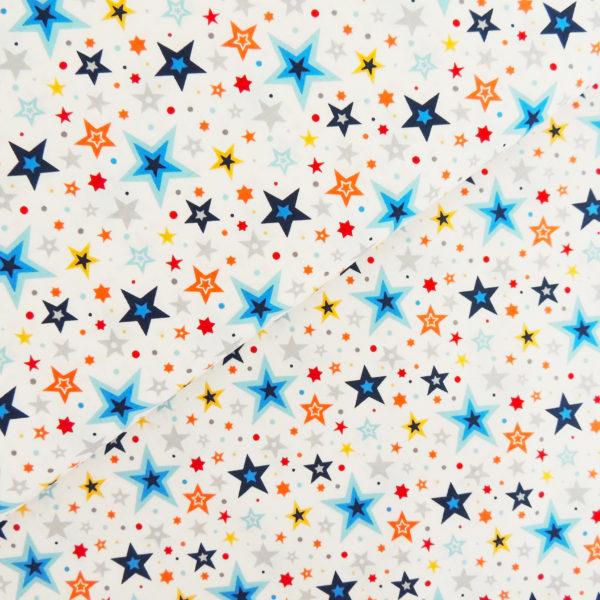 Ткань звёзды белые - студия SOVA