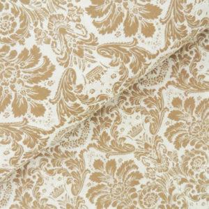 Дамаск коричневый на белом - студия SOVA