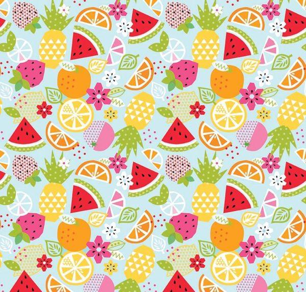 Ткань фрукты - студия SOVA