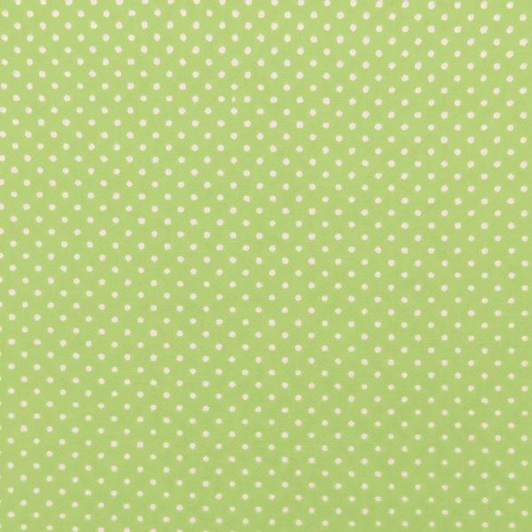 Ткань салатовый горошек - студия SOVA