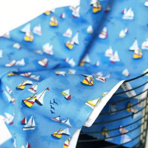 Ткань кораблики - студия SOVA