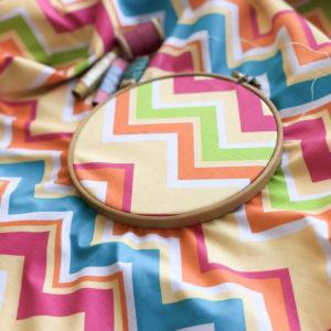 Ткань шеврон солнечный - ZIGZAG SHOP