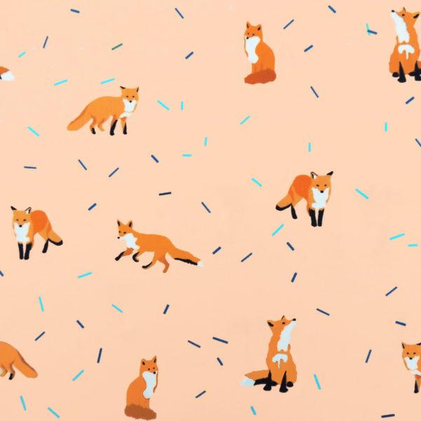 Ткань пудровые лисички - студия SOVA