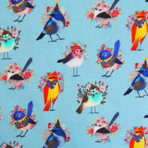 Ткань птички - студия SOVA