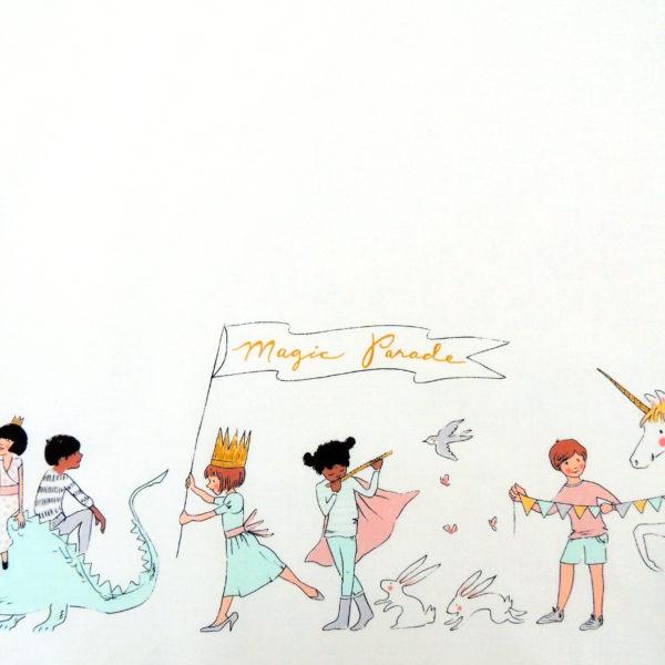 Ткань парад белый