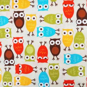 Ткань весёлые совы