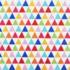 Ткань розовые треугольники - студия SOVA