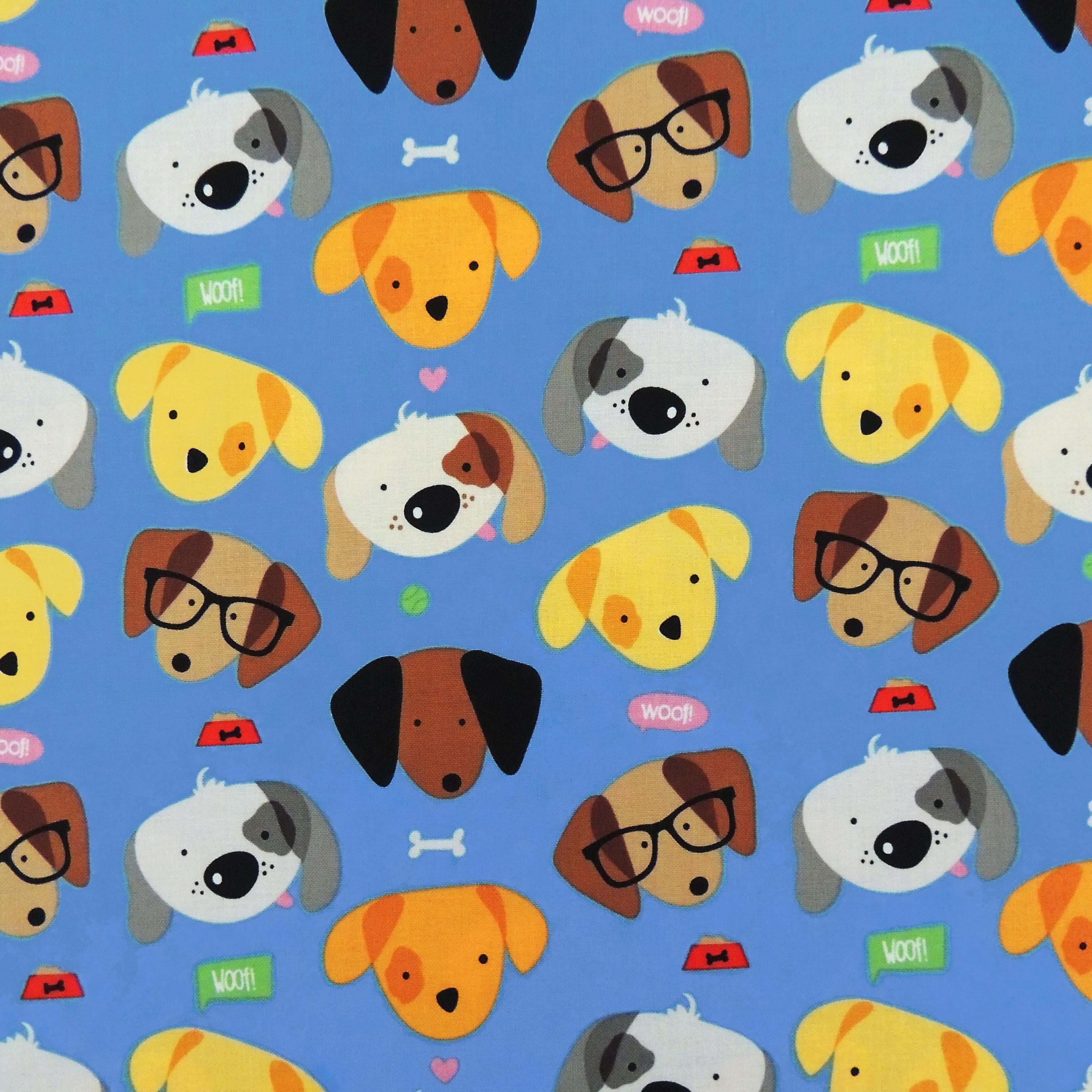 Ткань с собачками - студия SOVA