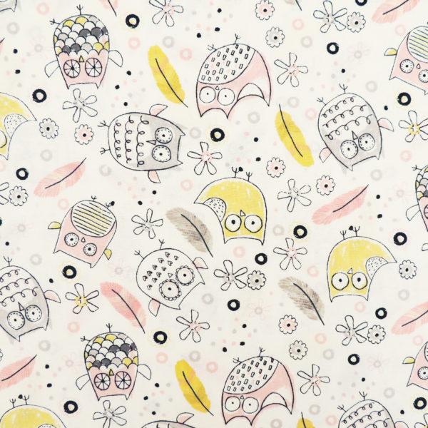 Ткань веселая сова - студия SOVA