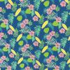 Ткань синие цветы - студия SOVA
