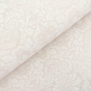Ткань дамаск молочный - студия SOVA