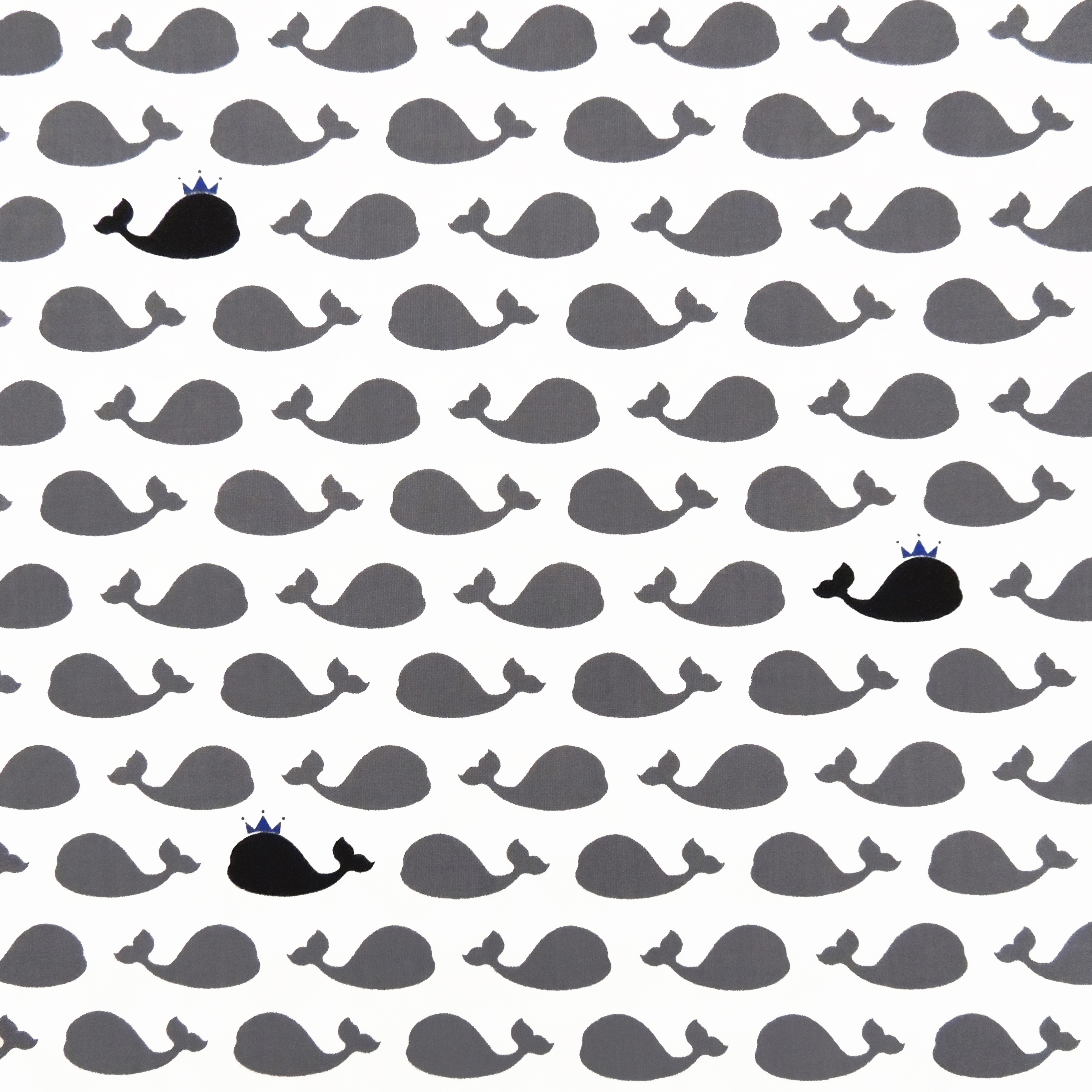 Ткань серые кашалоты - студия SOVA