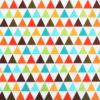 Ткань коричневые треугольники - студия SOVA