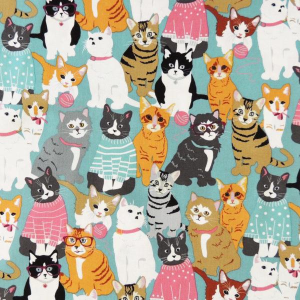 Ткань с котиками - студия SOVA