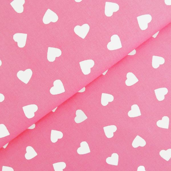 Ткань розовые сердечки - студия SOVA