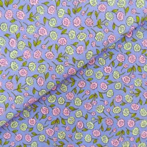 Перкаль цветы фиолетовые - студия SOVA