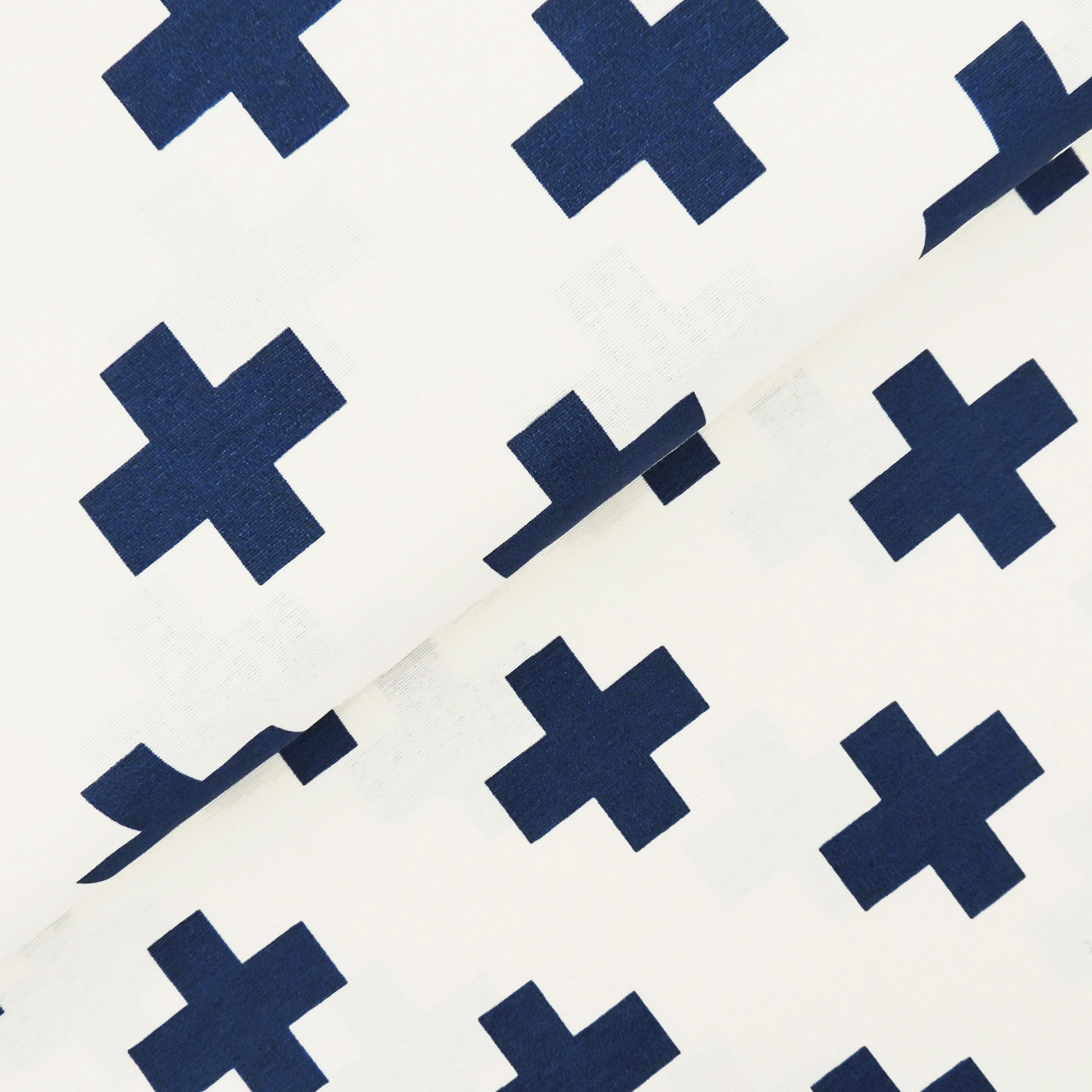 Канвас синие кресты - студия SOVA