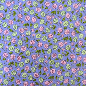 Перкаль цветы фиолетовые