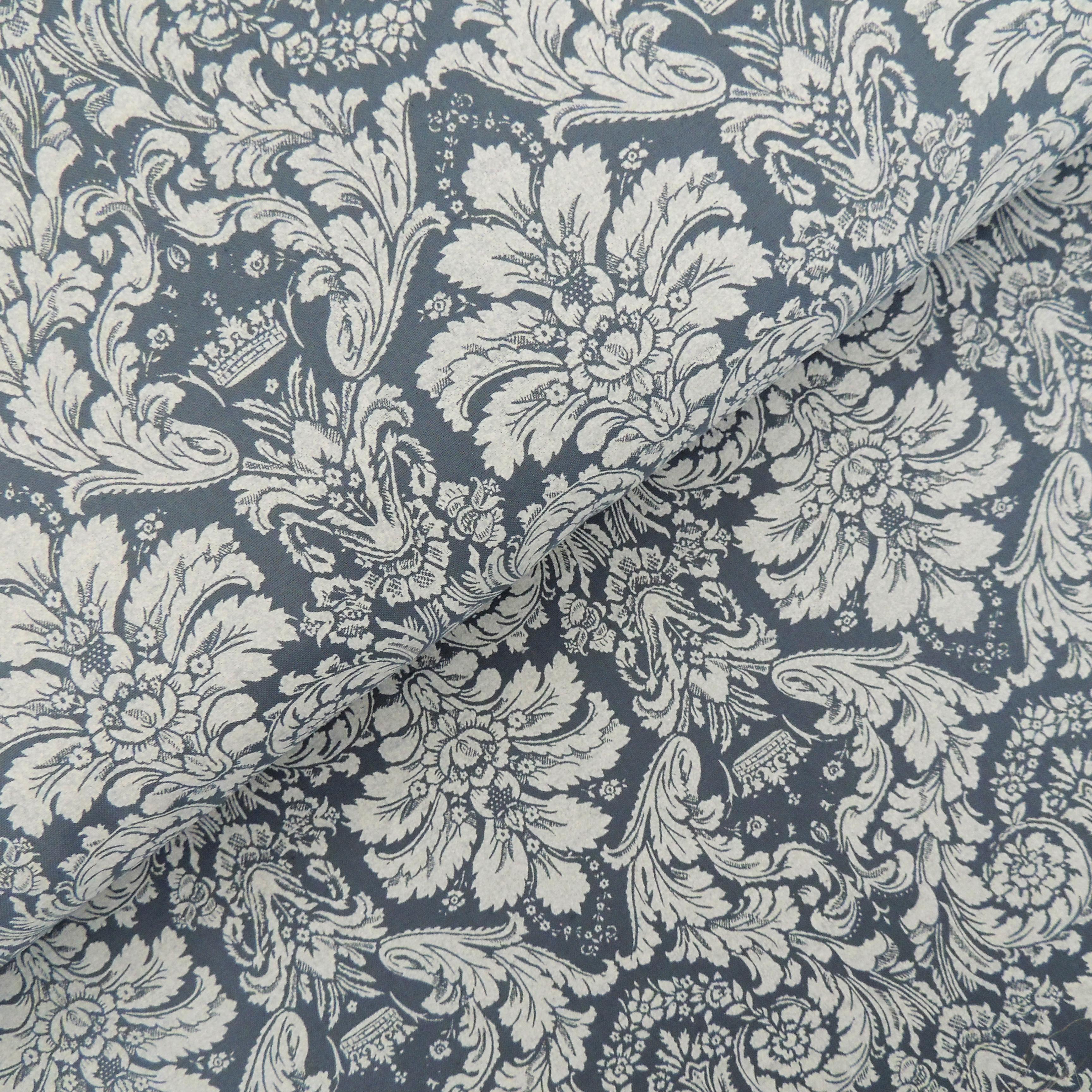 Ткань дамаск серый - студия SOVA