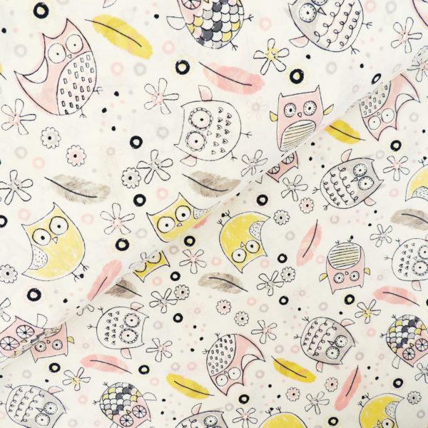 Ткань веселая сова