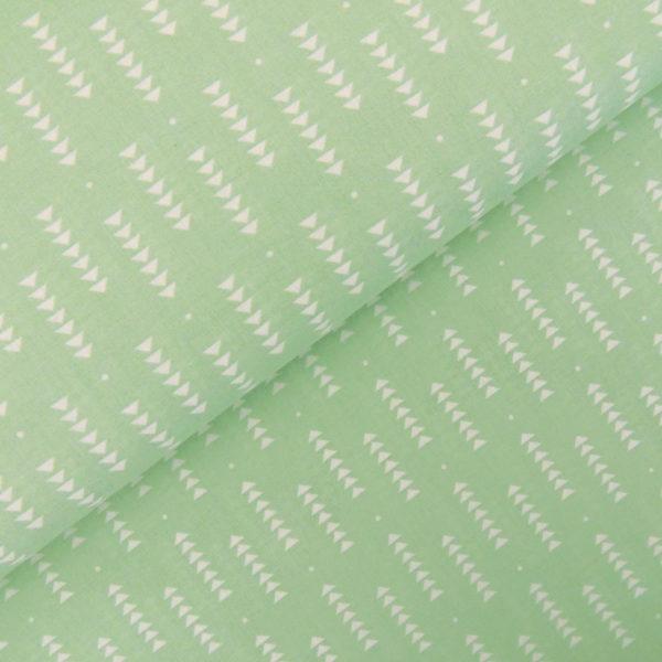 Ткань мятные треугольники - студия SOVA