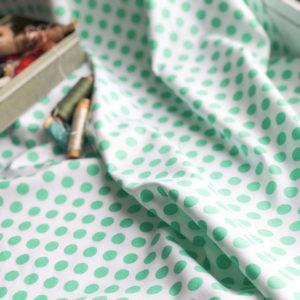 Ткань горох салатовый - ZIGZAG SHOP