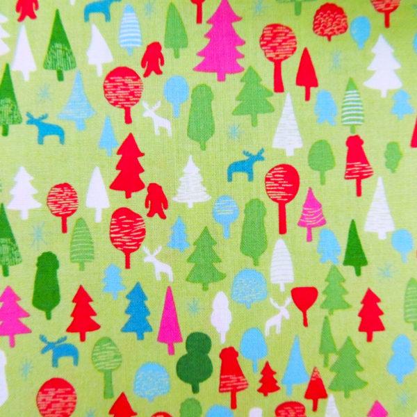 Ткань новогодний лес