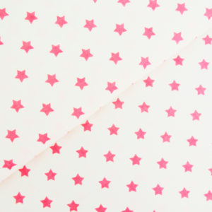 Ткань звёздочки «розовые»
