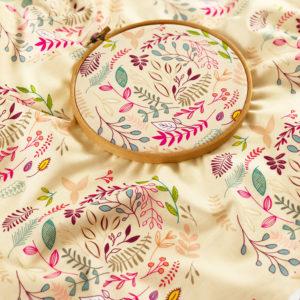 Ткань веточки - студия SOVA
