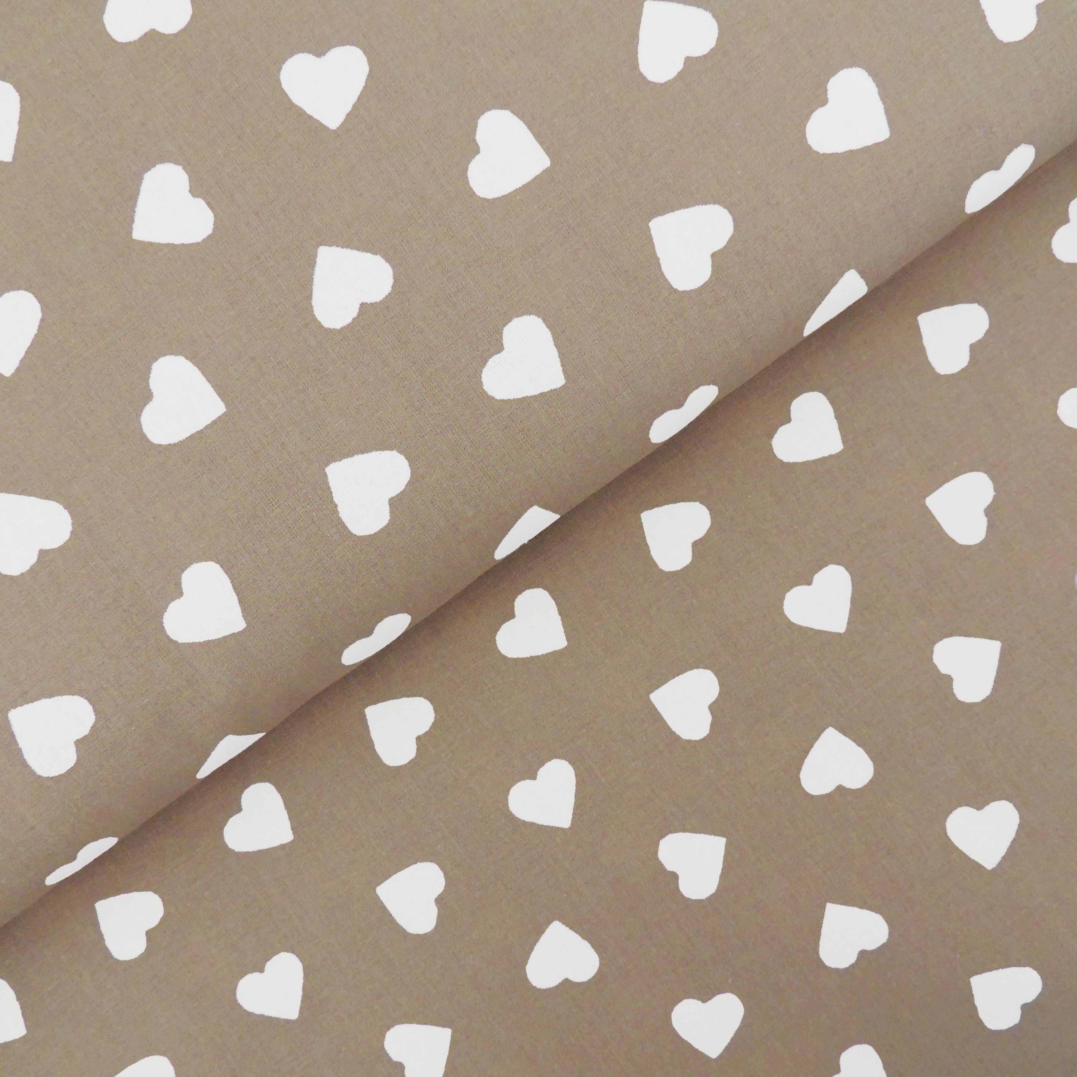 Ткань серые сердечки - студия SOVA