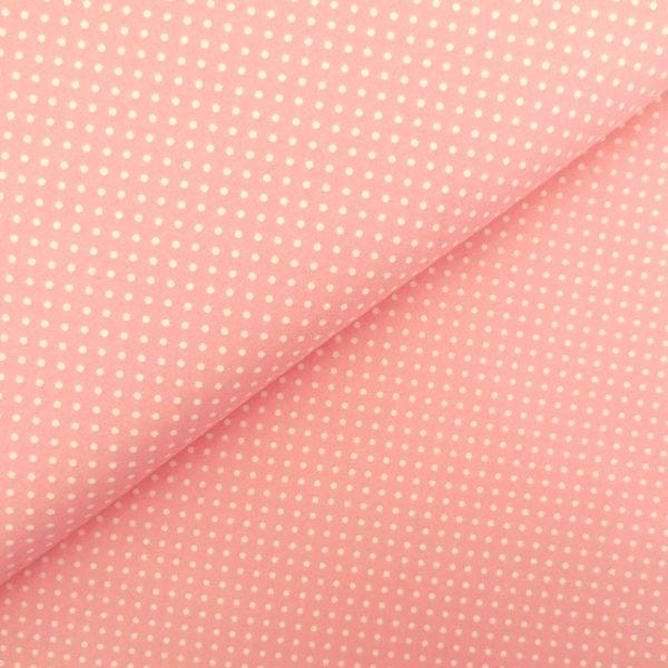 Ткань розовый горошек - студия SOVA