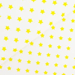 Ткань звёздочки желтые