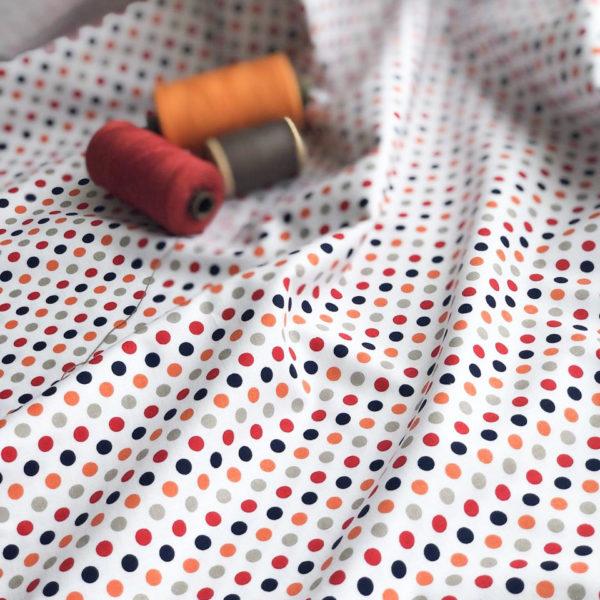 Ткань горошки - ZIGZAG SHOP