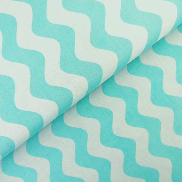 Ткань голубая волна - студия SOVA