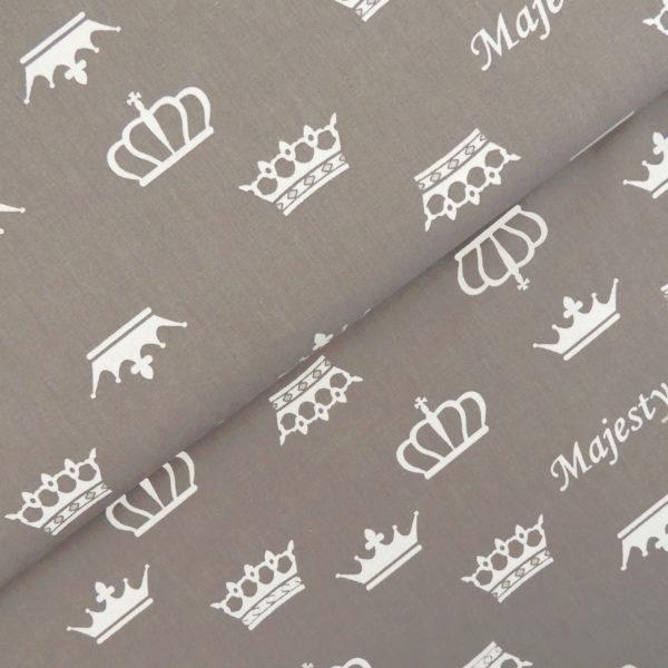Ткань серые короны - студия SOVA