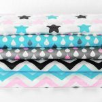 Ткань голубые капли