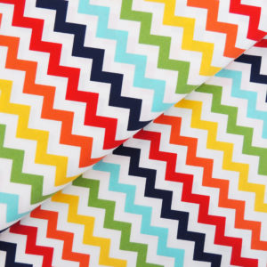 Ткань разноцветный шеврон - студия SOVA
