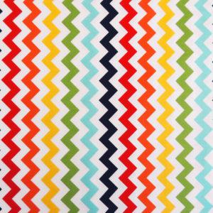Ткань разноцветный шеврон