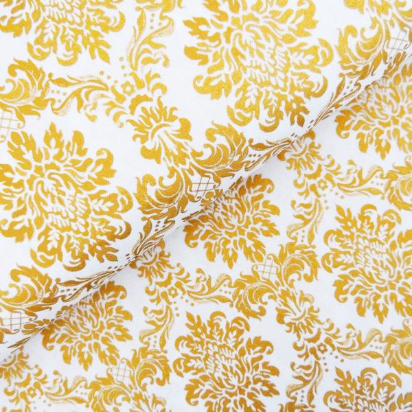 Ткань дамаск золото - студия SOVA