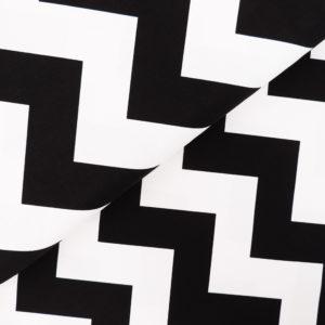 Ткань черно-белый шеврон - студия SOVA