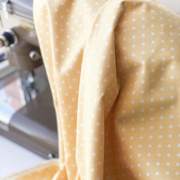 Ткань желтый горошек - ZIGZAG SHOP