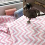 Ткань розовый шеврон - студия SOVA