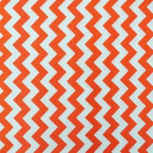 Ткань оранжевый шеврон